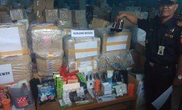 Barang Ilegal, Dari Kopi, Kapsul Kuat Hingga Kosmetik di Amankan Bea & Cukai Dumai