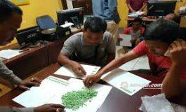 Dua Orang Pria Ditangkap Polisi Bengkalis, di Duga Bawa Sabu 1kg & 957 Butir Pil Extacy