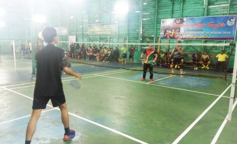 Hut Kota Dumai ke 19, 128 Atlet Berlaga di Turnamen Bulu Tangkis Pelindo I Dumai