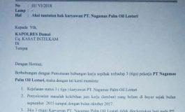 Aliansi Layangkan Surat Aksi, PT Nagamas Belum Bayar Hak Pekerja