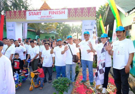 Jalankan Program BUMN Hadir untuk Negeri, PGN Ajak Masyarakat Pekanbaru Berolahraga