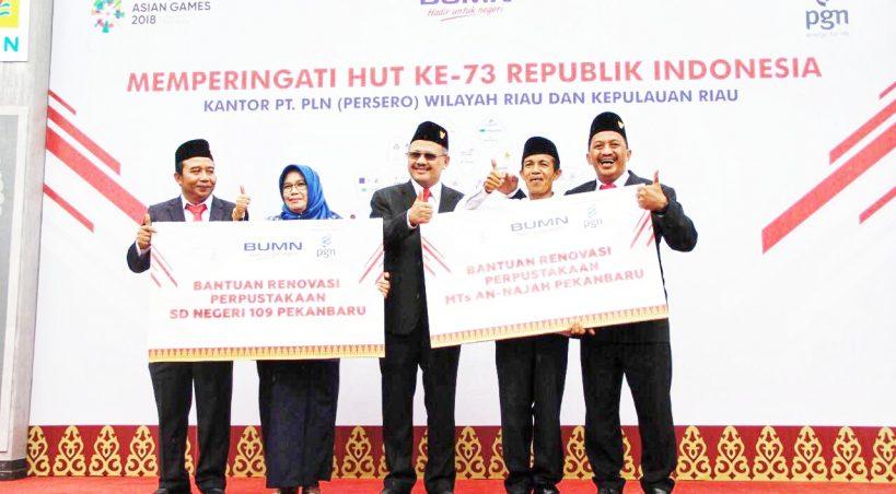 Pimpin Upacara Bendera HUT RI ke-73 di Riau, Dirut PGN Kobarkan Semangat Kebhinekaan