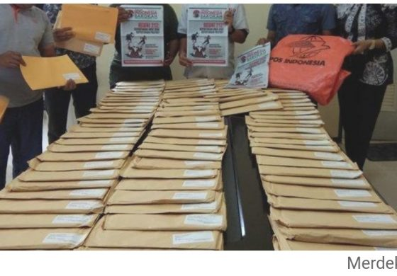 153 Bungkus Berisi Tabloid Indonesia Barokah Ditahan di Kantor Pos Pekanbaru